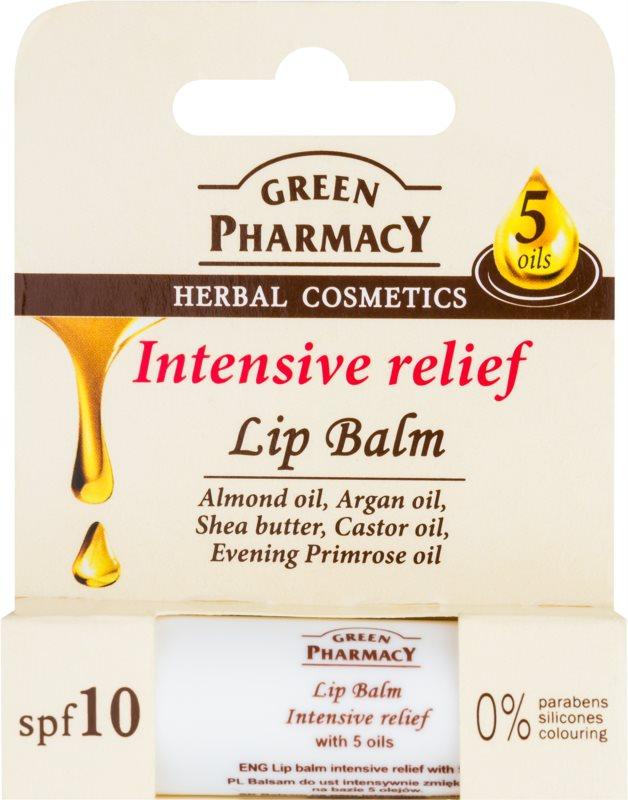 Green Pharmacy Lip Care baume à lèvres hydratant intense SPF 10