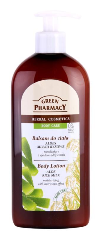 Green Pharmacy Body Care Aloe & Rice Milk hydratační tělové mléko s vyživujícím účinkem