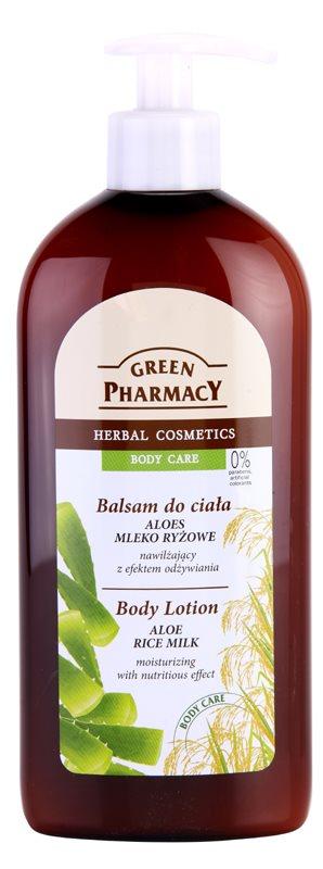 Green Pharmacy Body Care Aloe & Rice Milk leche corporal hidratante con efecto nutritivo