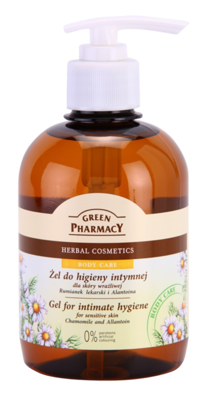 Green Pharmacy Body Care Chamomile & Allantoin gel pentru igiena intima pentru piele sensibila