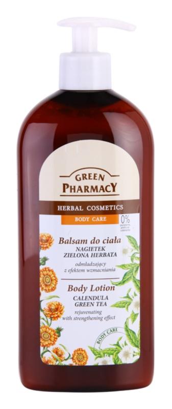 Green Pharmacy Body Care Calendula & Green Tea fiatalító testápoló tej erősítő hatással