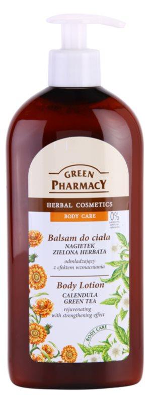 Green Pharmacy Body Care Calendula & Green Tea odmładzające mleczko do ciała o działaniu wzmacniającym