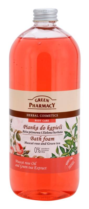 Green Pharmacy Body Care Muscat Rose & Green Tea spuma de baie