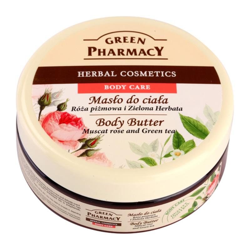 Green Pharmacy Body Care Muscat Rose & Green Tea manteiga corporal