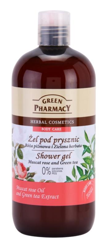 Green Pharmacy Body Care Muscat Rose & Green Tea gel de duche
