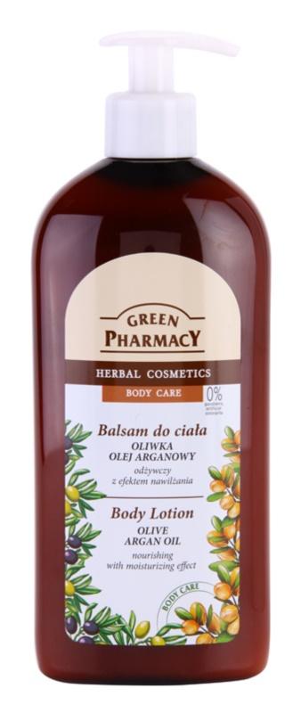 Green Pharmacy Body Care Olive & Argan Oil nährende Körpermilch mit feuchtigkeitsspendender Wirkung