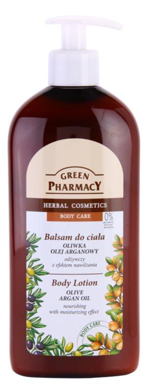 Green Pharmacy Body Care Olive & Argan Oil поживне молочко для тіла зі зволожуючим ефектом