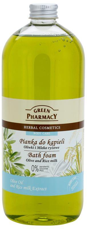 Green Pharmacy Body Care Olive & Rice Milk espuma de baño