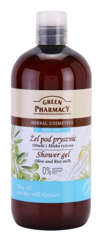 Green Pharmacy Body Care Olive & Rice Milk gel de dus