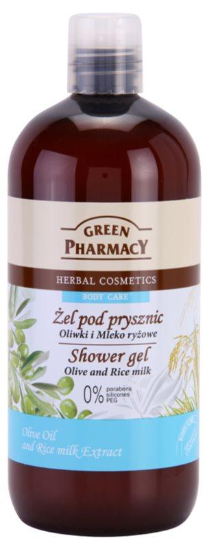 Green Pharmacy Body Care Olive & Rice Milk гель для душу