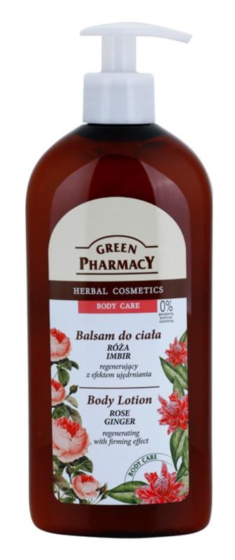 Green Pharmacy Body Care Rose & Ginger lapte de corp regenerator cu efect de întărire