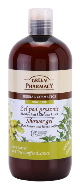 Green Pharmacy Body Care Shea Butter & Green Coffee gel de dus