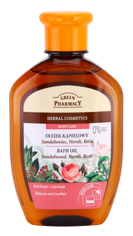 Green Pharmacy Body Care Sandalwood & Neroli & Rose olej do kúpeľa