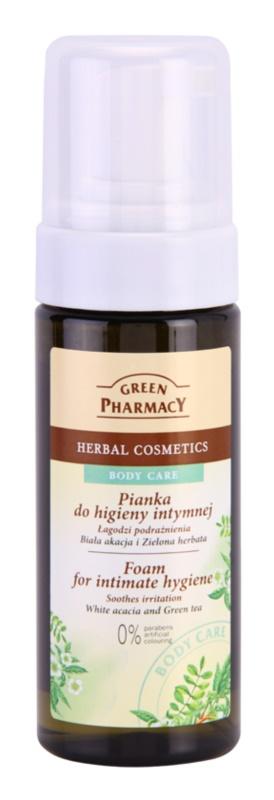 Green Pharmacy Body Care White Acacia & Green Tea spuma pentru igiena intima