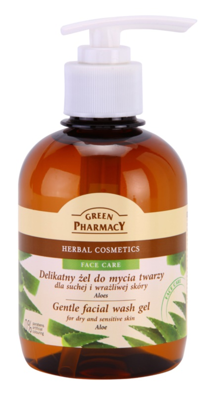 Green Pharmacy Face Care Aloe Gentle Cleansing Gel for Sensitive and Dry Skin