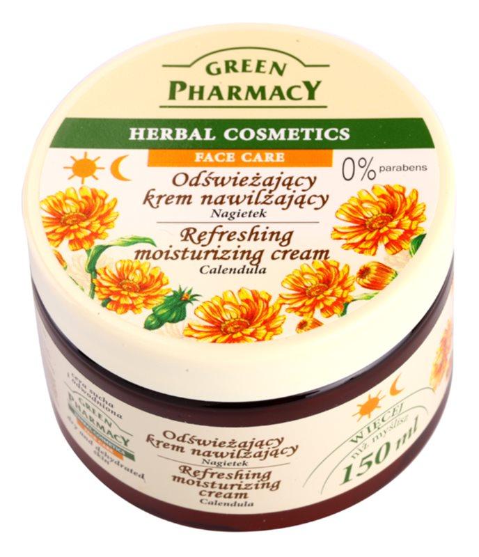 Green Pharmacy Face Care Calendula osviežujúci hydratačný krém pre dehydratovanú suchú pleť