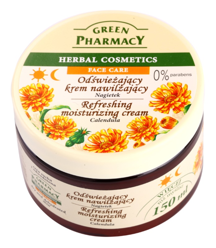 Green Pharmacy Face Care Calendula Refreshing Moisturizing Cream For Dehydrated Dry Skin