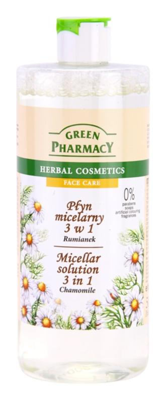 Green Pharmacy Face Care Chamomile água micelar 3 em 1