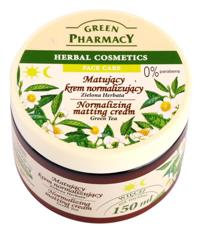 Green Pharmacy Face Care Green Tea matující krém pro mastnou a smíšenou pleť