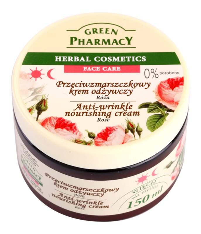 Green Pharmacy Face Care Rose crème nourrissante anti-rides