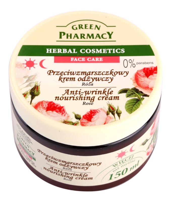 Green Pharmacy Face Care Rose odżywczy krem przeciwzmarszczkowy