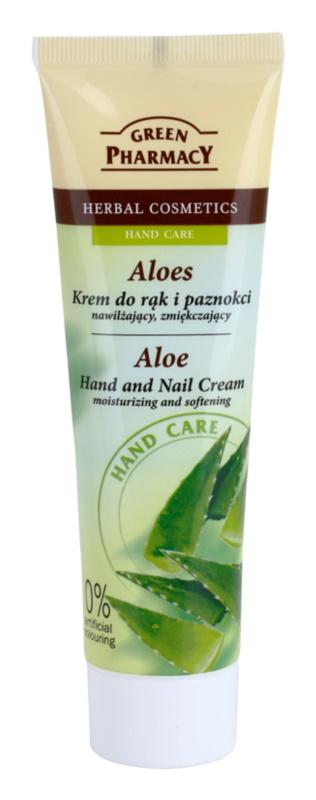 Green Pharmacy Hand Care Aloe hydratačný a zvláčňujúci krém na ruky a nechty