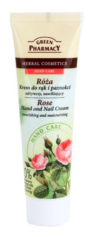 Green Pharmacy Hand Care Rose поживний зволожуючий крем для рук та нігтів