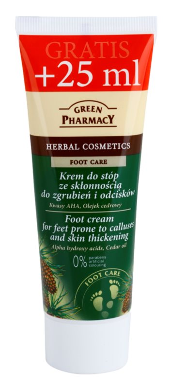 Green Pharmacy Foot Care krém na chodidla se sklonem k mozolům a hrubou kůží