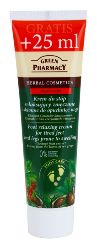 Green Pharmacy Foot Care creme relaxante para pés cansados e pernas propensas a inchaço