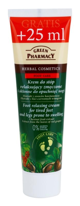 Green Pharmacy Foot Care relaxačný krém na unavené chodidlá a nohy so sklonom k opuchom