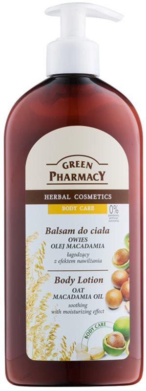 Green Pharmacy Body Care Oat & Macadamia Oil feuchtigkeitsspendende Bodylotion zum Beruhigen der Haut