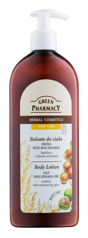 Green Pharmacy Body Care Oat & Macadamia Oil tělové mléko pro zklidnění a hydrataci pokožky