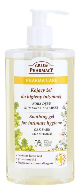 Green Pharmacy Pharma Care Oak Bark Chamomile pomirjajoči gel za intimno higieno