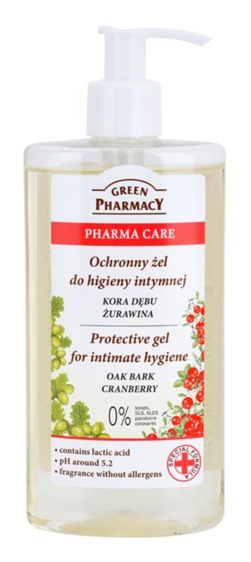 Green Pharmacy Pharma Care Oak Bark Cranberry gel protetor para higiene íntima