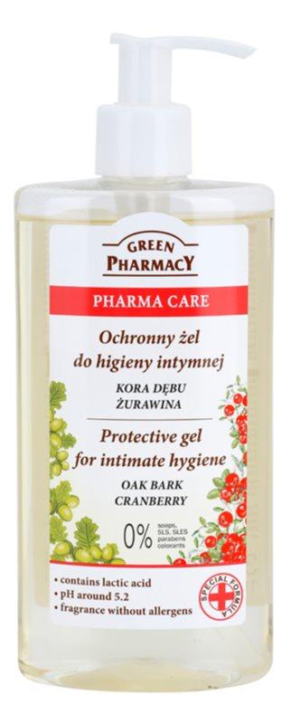 Green Pharmacy Pharma Care Oak Bark Cranberry schützendes Gel für die intime Hygiene