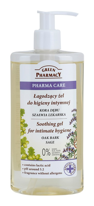 Green Pharmacy Pharma Care Oak Bark Sage gel calmant pentru igiena intima
