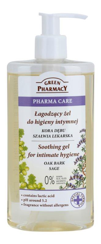 Green Pharmacy Pharma Care Oak Bark Sage gel calmante para la higiene íntima