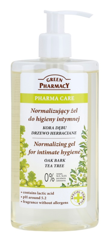 Green Pharmacy Pharma Care Oak Bark Tea Tree żel do higieny intymnej