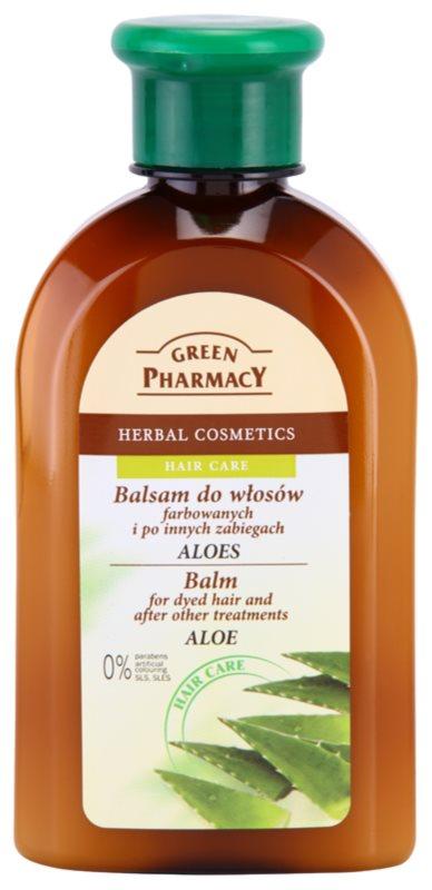 Green Pharmacy Hair Care Aloe balzam pre farbené a inak ošetrené vlasy