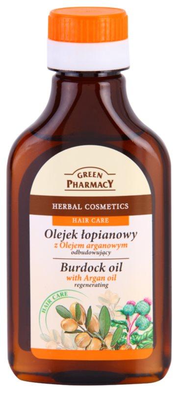 Green Pharmacy Hair Care Argan Oil lopuchový olej na vlasy s regeneračním účinkem