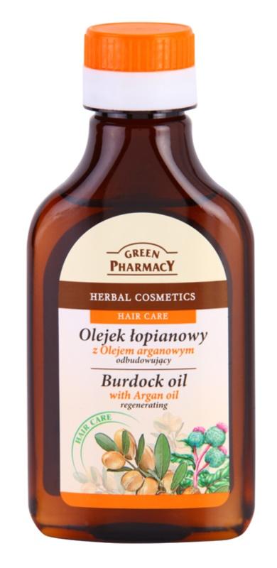 Green Pharmacy Hair Care Argan Oil Ulei de par in brusture  ulei pentru par cu brusture efect regenerator