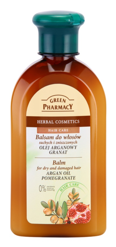 Green Pharmacy Hair Care Argan Oil & Pomegranate balsam pentru par uscat si deteriorat