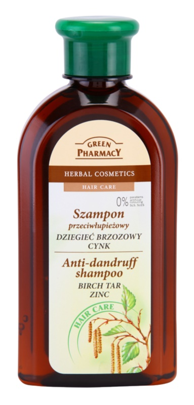 Green Pharmacy Hair Care Birch Tar & Zinc champô anticaspa