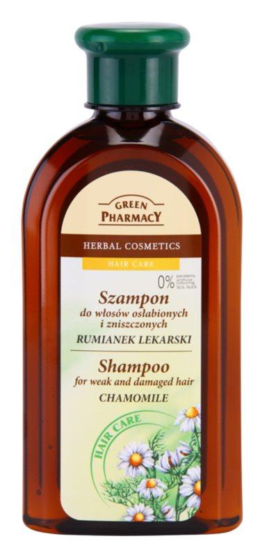 Green Pharmacy Hair Care Chamomile champô para cabelos enfraquecidos e danificados