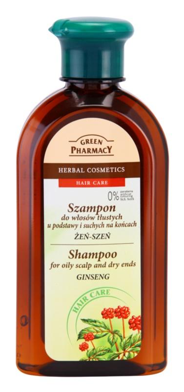 Green Pharmacy Hair Care Ginseng šampon pro mastnou vlasovou pokožku a suché konečky