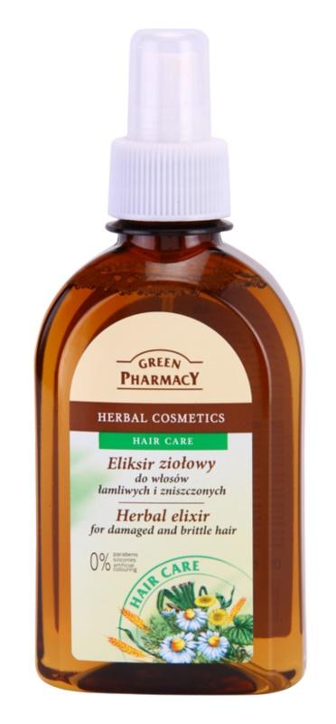 Green Pharmacy Hair Care Elixir pe baza de plante pentru parul deteriorat si casant