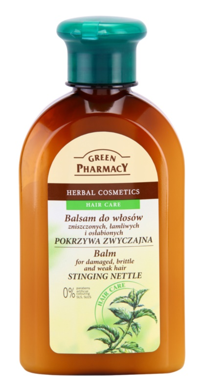 Green Pharmacy Hair Care Stinging Nettle bálsamo para cabelo danificado, quebradiço e fraco