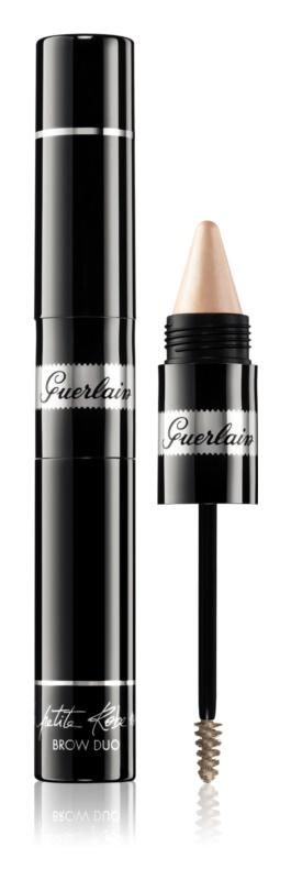 Guerlain La Petite Robe Noire Brow Duo mascara cu textură de gel pentru sprâncene, cu efect iluminator