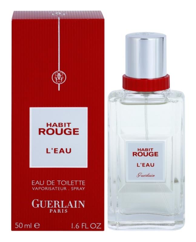 Guerlain Habit Rouge L'Eau toaletná voda pre mužov 50 ml