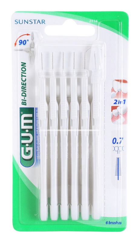 G.U.M Bi Direction brossettes interdentaires 6 pcs